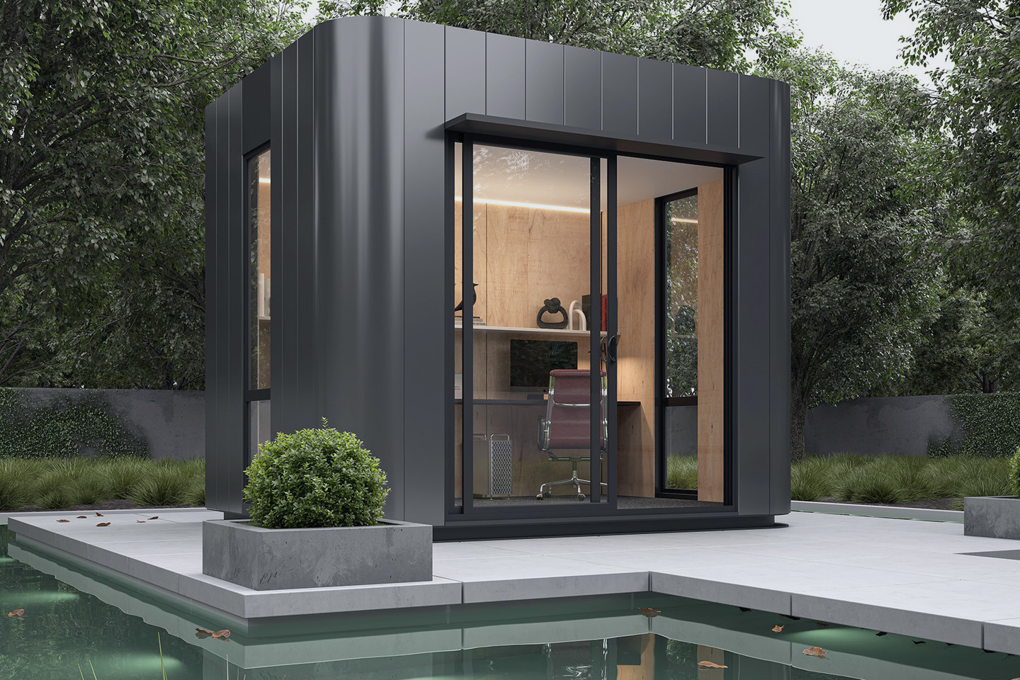 Perfect for a kid's retreat, home office or yoga studio, the backyard pod could be the ideal solution for your family. Image courtesy of Harwyn.